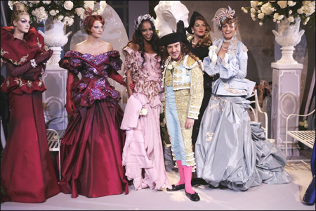 John Galliano for his 10th year at the French house Christian Dior