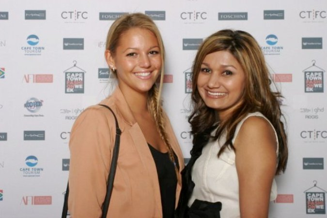 Kumari and Kay-Lee at Cape Town Fashion Week