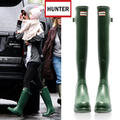 Nicole Richie in Original Hunter Boots