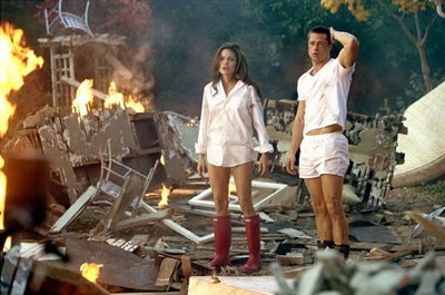 Angelina Jolie made the red Hunter Boot famous in Mr. and Mrs. Smith