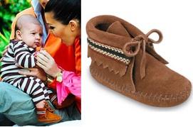 Kourtney Kardashian's son Mason Disick in Minnetonka booties