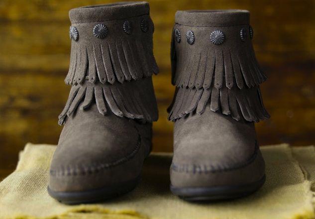 Minnetonka Fringe Boots as Seen on Angelina Jolie | Facebook