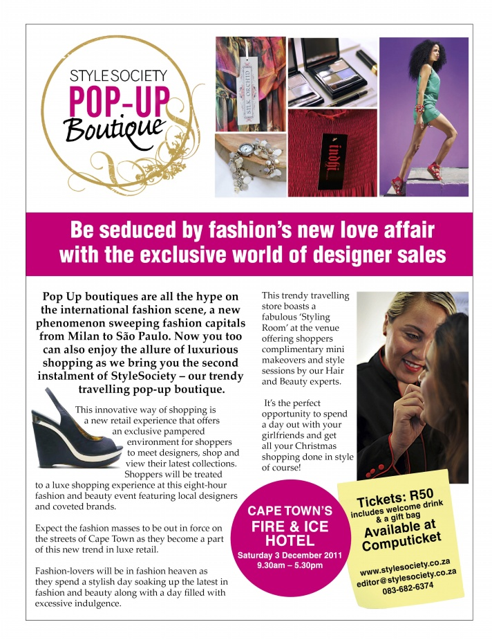 Have you booked your ticket to StyleSociety Pop up Boutique?