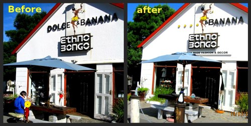 Dolce and Banana - before and after