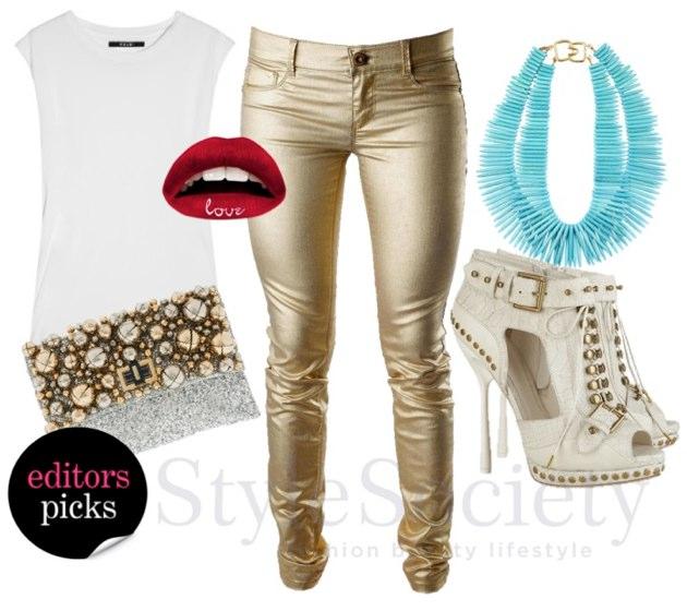 14cfde088030 Sissy Boy Jeans. How to wear the Metallic Trend