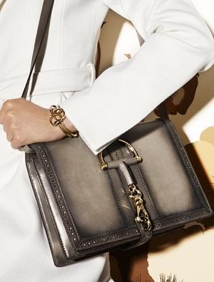 Duilio brogue leather shoulder bag