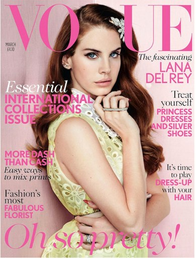 Love Lana Del Rey's V French Manicure in Vogue