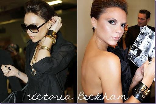Victoria Beckham wearing her Hermes Collier de Chien Bracelet