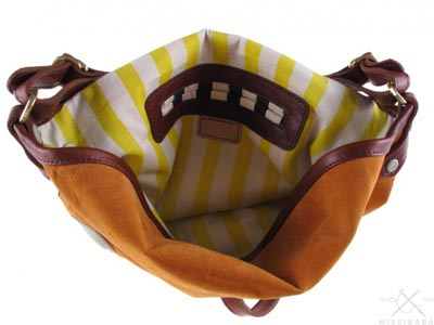 Locally printed handbag linings