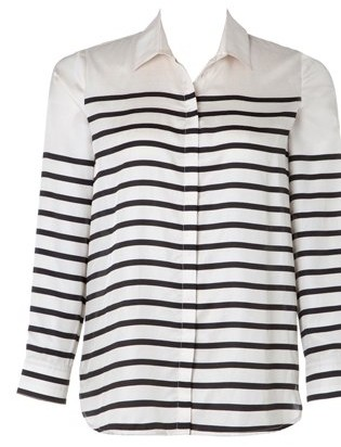 Classic Striped Silk Cotton shirt by Trenery