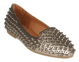 Jeffrey Campbell Martini Spikes Slip-On Silver