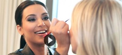 Kim Kardashian gives Makeup Lessons
