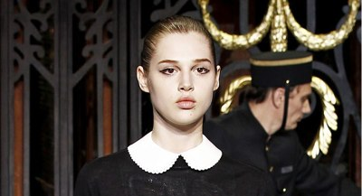 Louis Vuitton Fall 2011 - Crisp White Peter Pan Collar