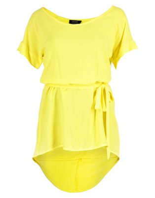 August Yellow Tunic Dress | Haute Colour | Canary Yellow