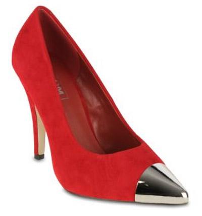 Zoom Footwear | Melody | Metal Toe Cap Stilettos in Red