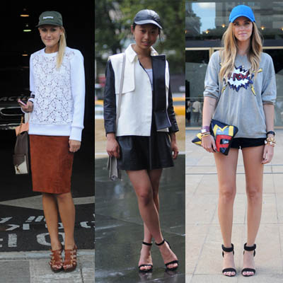 Street Style | The Unexpected Haute Accessory | The Baseball Cap