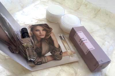 Burberry Body & Issey Miyake Florale spritz samples and Elizabeth Arden skincare samples