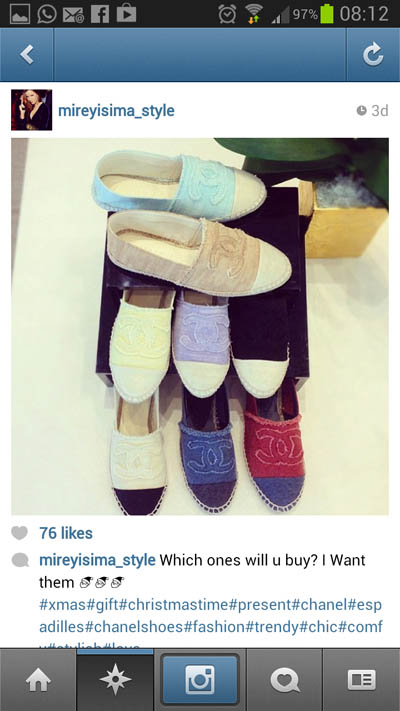 All the Colours | Shoe Street Trend | Chanel Espadrilles