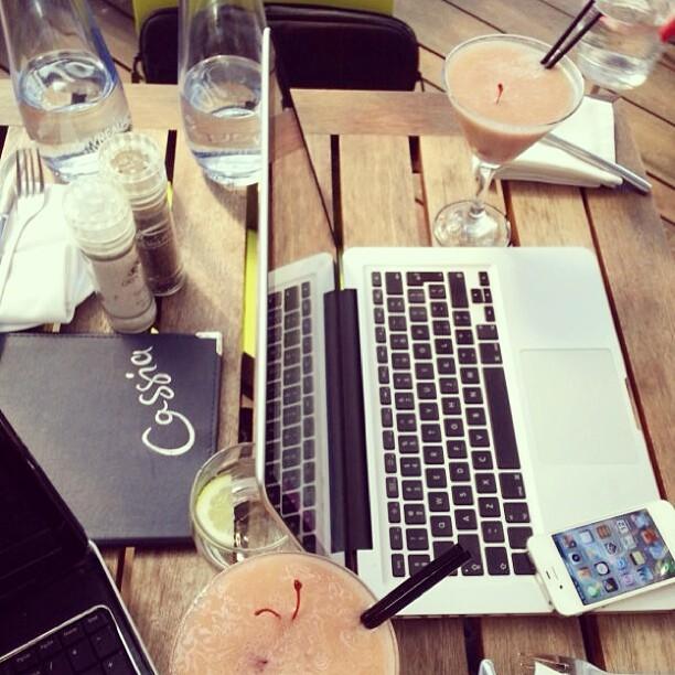 Enjoying a Nitida Martini. Nitida Sauvignon Blanc, cardamom, strawberries and sugar #StyleSociety Online Party