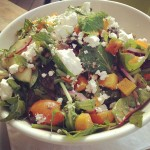Roasted Butternut salad with feta, mint, pine nuts and chilli vinaigrette