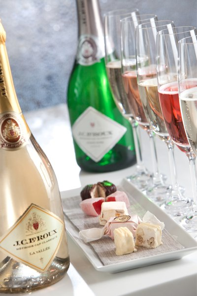 Stylish Bubbly and Nougat pairing for two with J.C. Le Roux