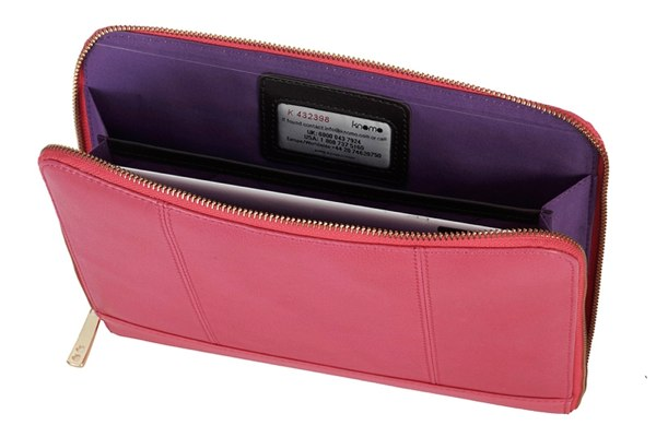 WIN a Knomo iPad Zip Sleeve in Teaberry
