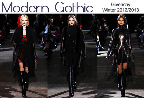 Givenchy Winter 2012-2013 Modern Gothic
