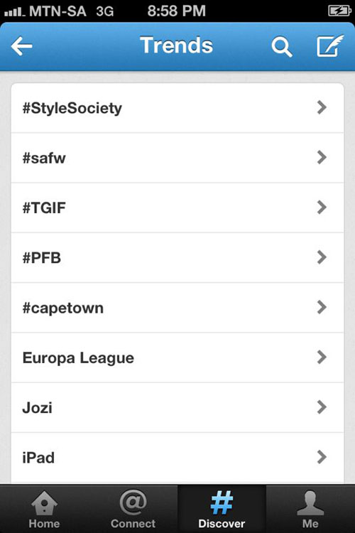 #StyleSociety trending on Twitter   12-13 April 2013