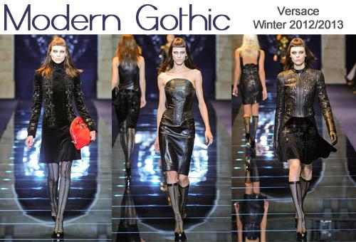 versace winter 2012-2013 modern gothic