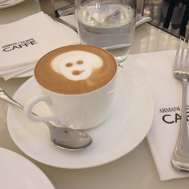 Quick recharge at the Armani Caffe' - Dubai Mall