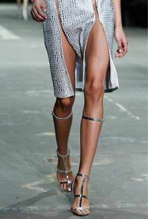 e367a5b8641 Fashion Warrior in Knee High Gladiators Tomford ©Gorunway Tomford ©Gorunway  Alexander Wang ©Gorunway