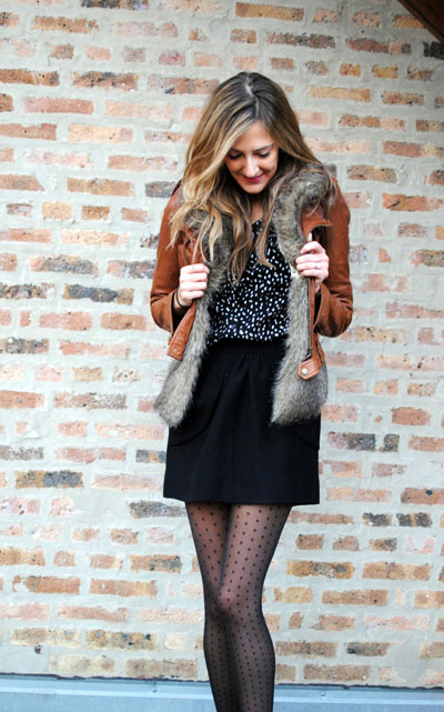 Casual Cool with Polka Dot Tights