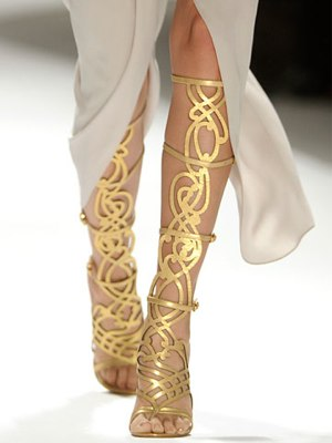 Fashion Warrior in Knee High Gladiators