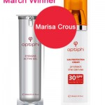 Optiphi Giveaway March Winner