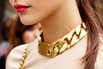 Street Chic | Celine Chunky Gold ID Necklace
