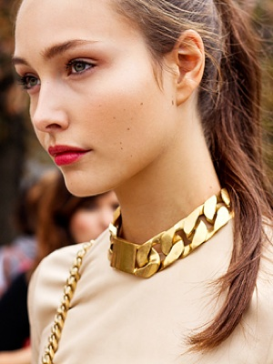 Street Chic | Celine Chunky Gold Necklace