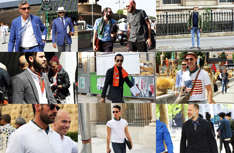 Street Style | Men tied in scarves