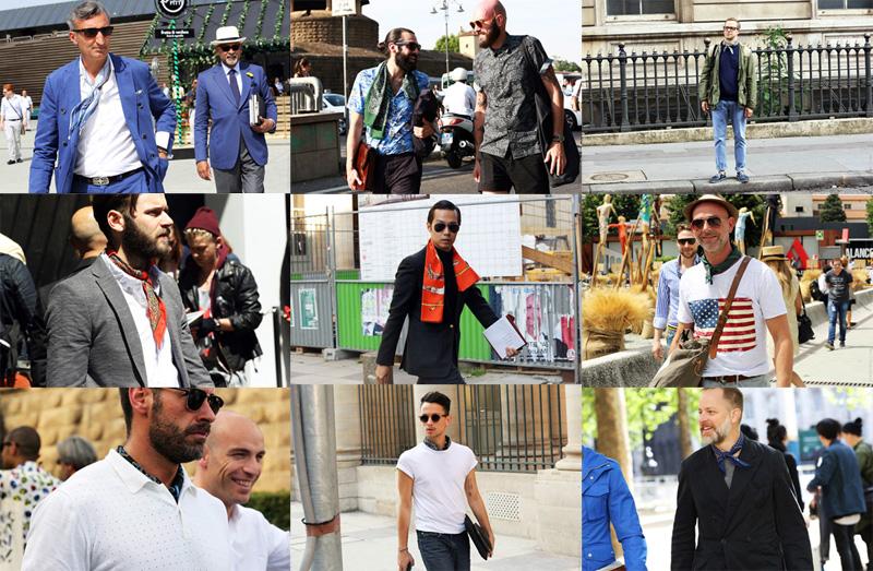 Street Style   Men tied in scarves