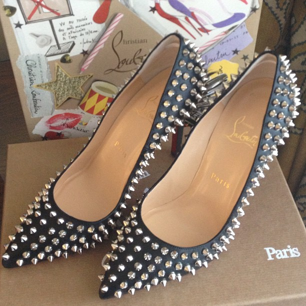 Gift from hubby... Pigalle Spikes Christian Louboutin Pumps