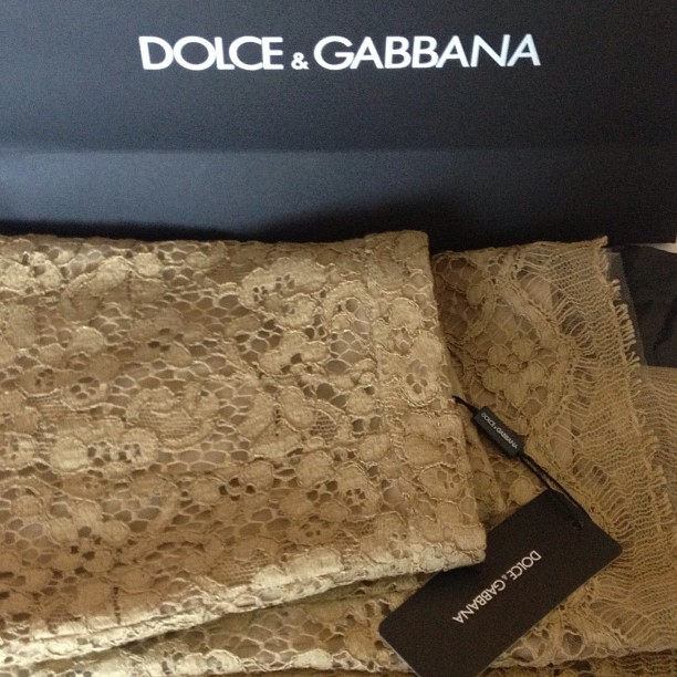 Sneak peek… Dolce & Gabbana Nude lace skirt from the latest Mosaic Collection