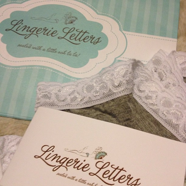 The cutest little surprise from Lingerie Letters