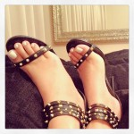 Obsessed with the Steve Madden Black Raelynn Studded Heels