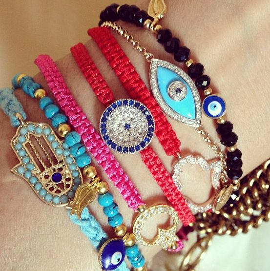 Obsessed with my evil eye and hamsa bracelets