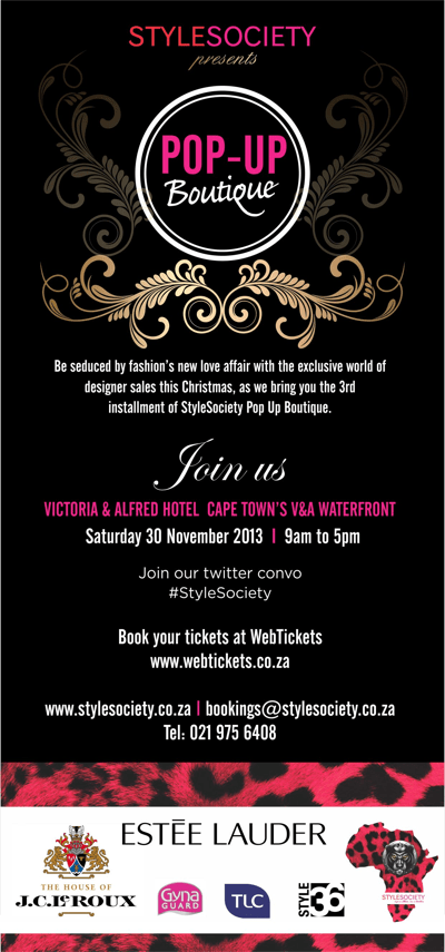 StyleSociety Pop up Boutique 2013