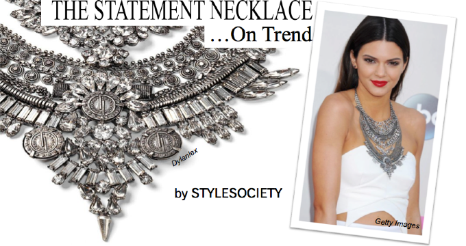 THE STATEMENT NECKLACE LAYERED DYLANLEX BY STYLESOCIETY