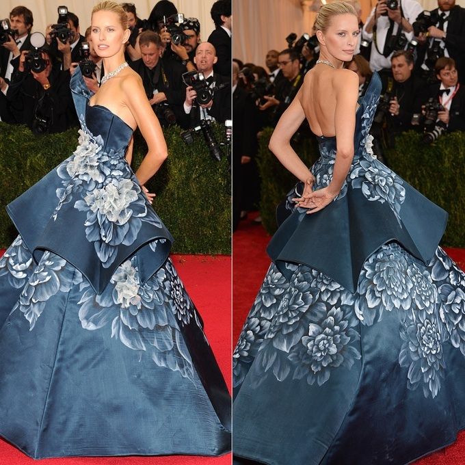 Karolina Kurkova in Marchesa at The Met Gala 2014