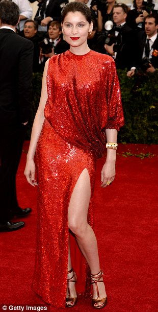 Elettra Wiedemann looked amazing in crimson at The Met Gala 2014