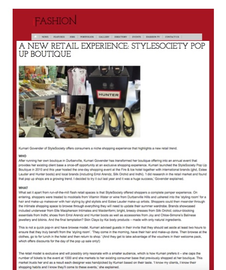 A new retail experience | StyleSociety Pop up Boutique | iFashion