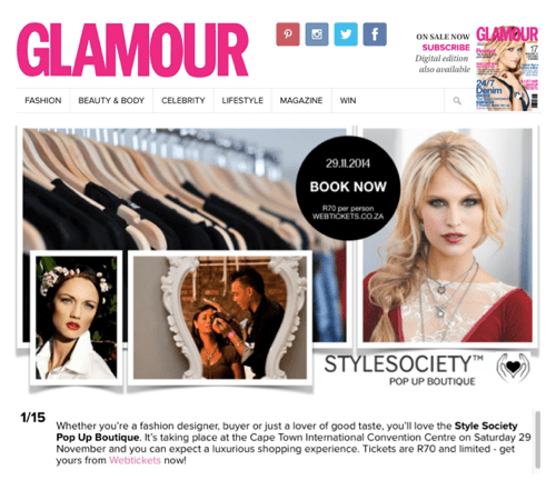 Pop Up Boutique – Online Media Coverage