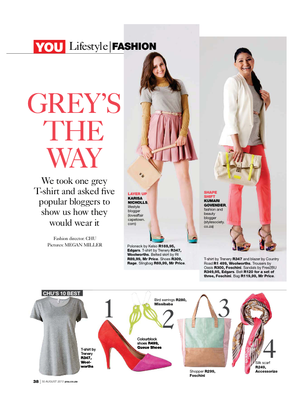 You Magazine August 2012 - Greys The Way